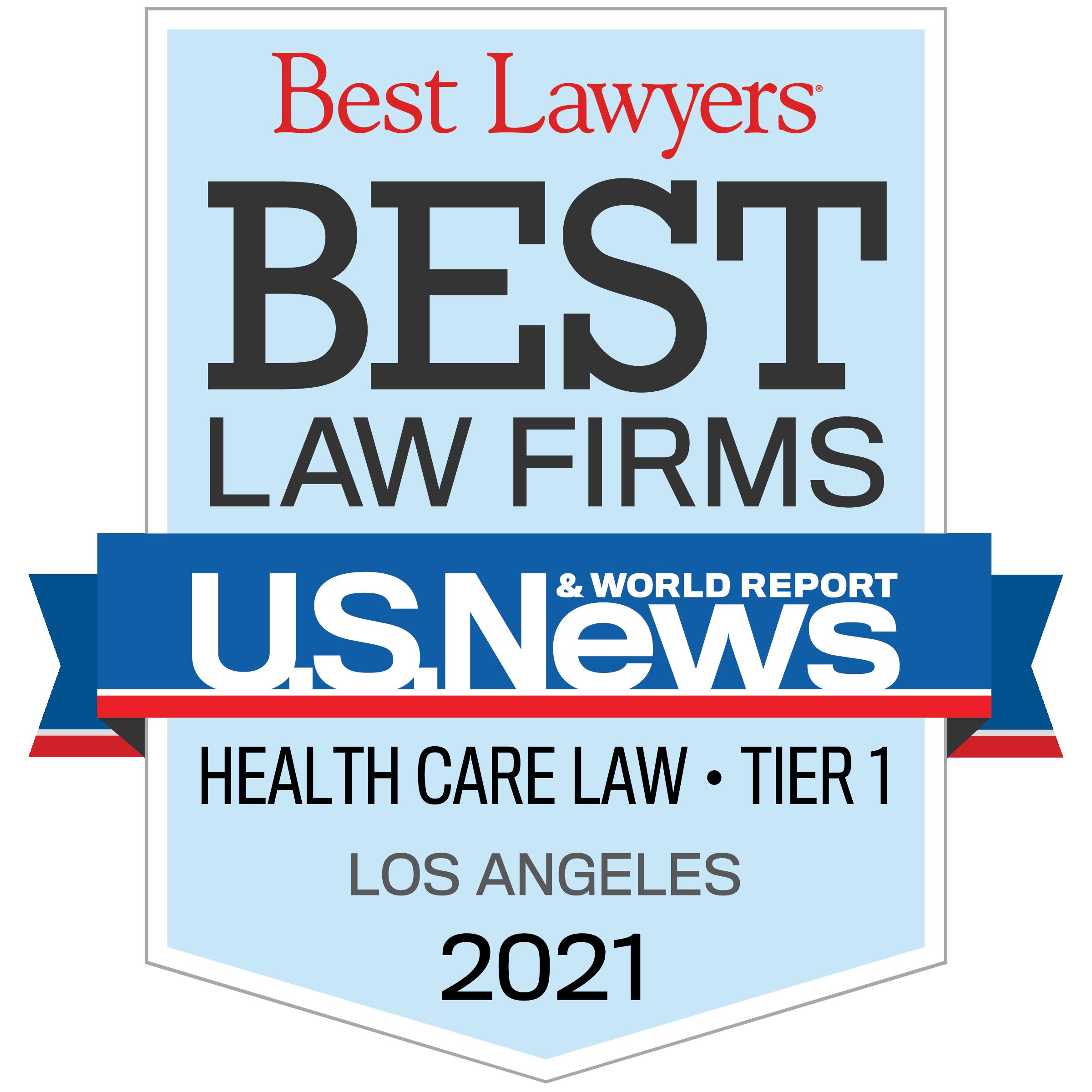 Best Law Firms - Regional Tier 1 Badge